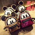 Super sequin  backpack 3D  cat bags Mickey Mouse backpack  bag big ears child cute cartoon Mini Backpack lovely Emoji bag