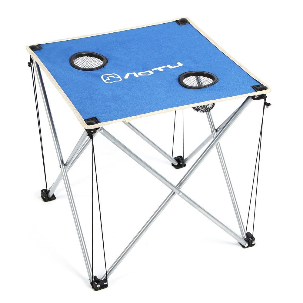 Practical AOTU Ultra-light Portable Foldable Folding Table Desk for Camping Outdoor Picnic Travel BBQ Beach hewolf portable size outdoor camping beach bbq barbecue grill rack household use lightweight folding picnic rack stand well sell