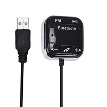 1PC Universal LCD Bluetooth 4.0 Car Kit MP3 FM Transmitter USB Charger Handsfree For iPhone Android Smart Phone Wholesale