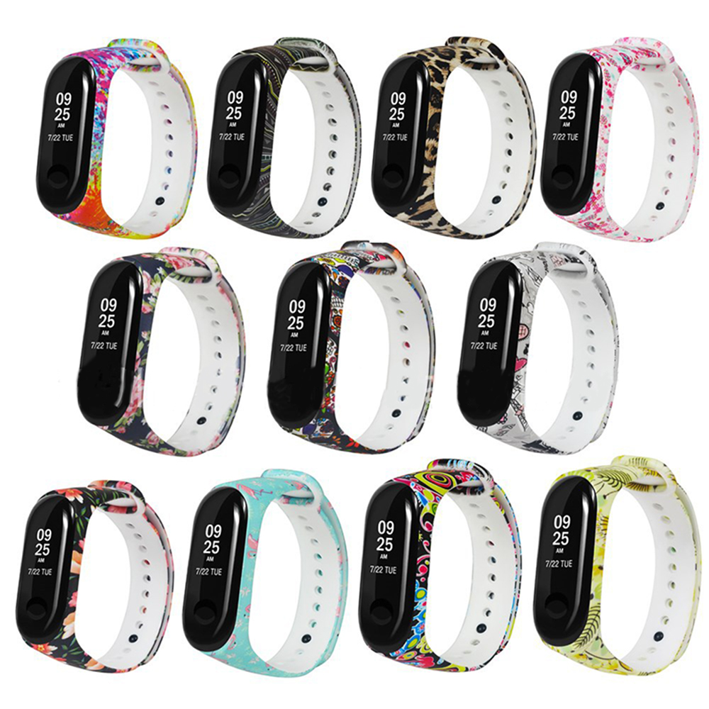 NEW Colorful For Mi Band 3 Strap Bracelet Replacement For Xiaomi Miband 3 Mi3 Silicone Pulsera Correa Belt With Varied Flowers