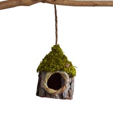 Simulation Bark Small Bird Nest Nest parrot Bird House Garden Plant Accessories Home Nature Ornaments bird Pet cage house(China)