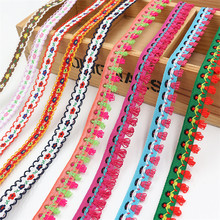 20M Ethnic Style Embroidery Ribbons Jacquard Lace Ribbon Clothing Decoration Satin DIY Handmade Craft Gift Wrapping