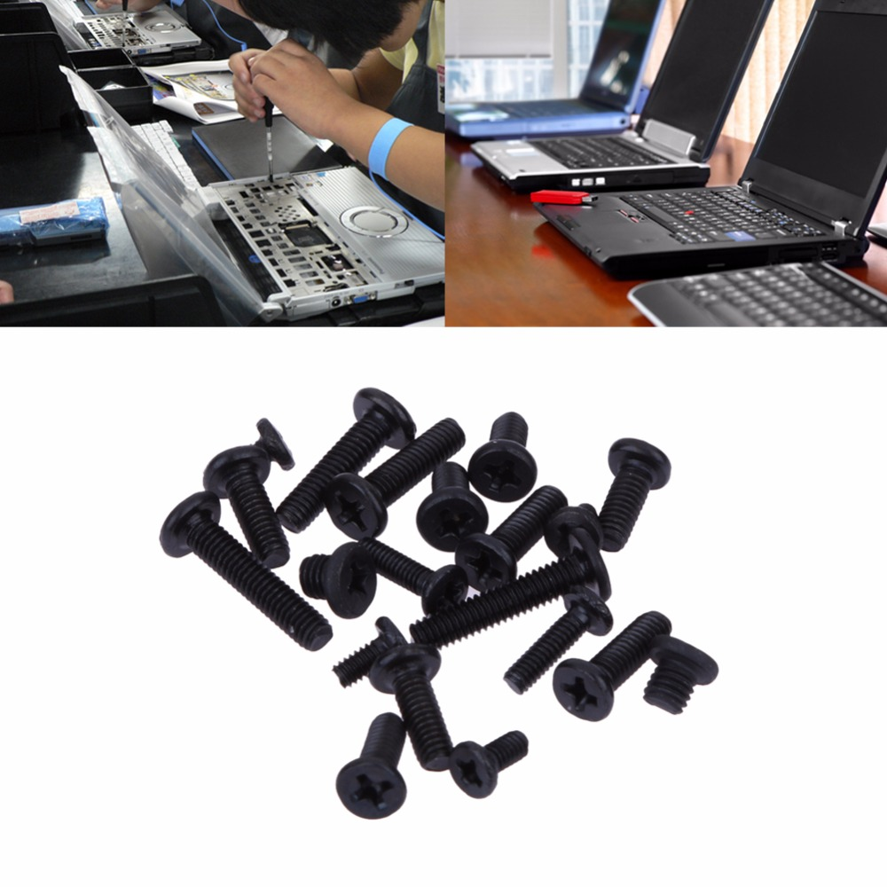 300pcs/set Laptop Computer Screws Set Black DIY Repair Assemble Fastening Flat Head Screw for IBM HP TOSHIBA SONY DELL SAMSUNG 224pcs assembly diy computer case screws kit fan screw pc desktop computer screw set with free screwdriver