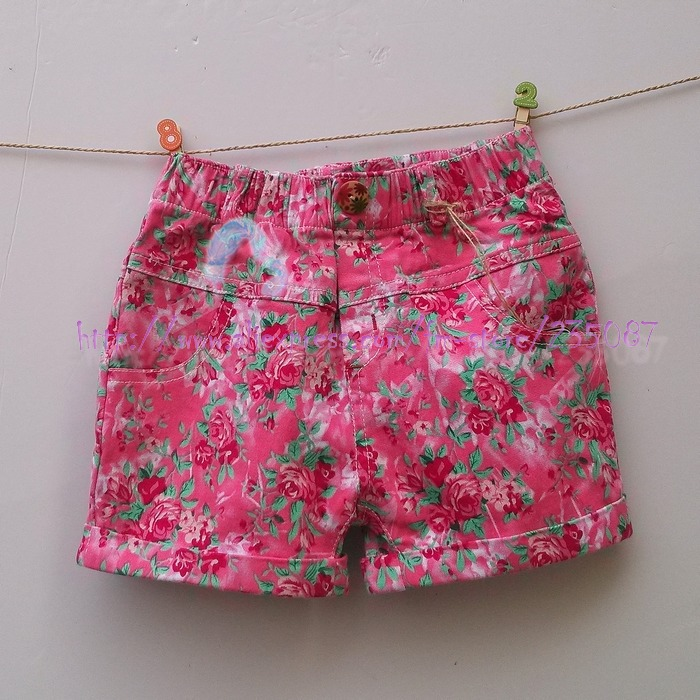 kids playsuit girls 3//4 pedal pusher shorts summer wear floral girl clothing