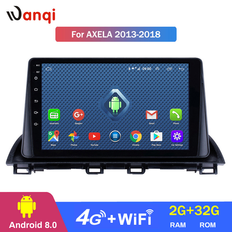 4G Lte All Netcom 9 inch Android 8.0 HD Touchscreen GPS Navigation system for 2014 <font><b>2015</b></font> <font><b>Mazda</b></font> <font><b>3</b></font> Axela support SWC DVR image