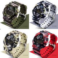 SANDA Entwickelt Luxus Männer Sport Uhren männer Digitale Uhren Camouflage Wasserdichte Elektronische Mann Military Läuft Armbanduhren
