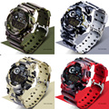 SANDA дизайнерские роскошные мужские спортивные часы, мужские цифровые часы, камуфляжные водонепроницаемые электронные мужские военные наручные часы для бега - фото