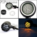 PAZOMA New Black Motorcycle Amber LED Turn Signal Light For Sportster Cruiser Bobber Cafe Racer Chopper Free Shipping