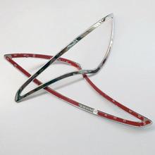 Free shipping For hyundai 2014 solaris Sedan Rear Tail Fog Light Lamp Cover Trim ABS Chrome auto accessories 2pcs