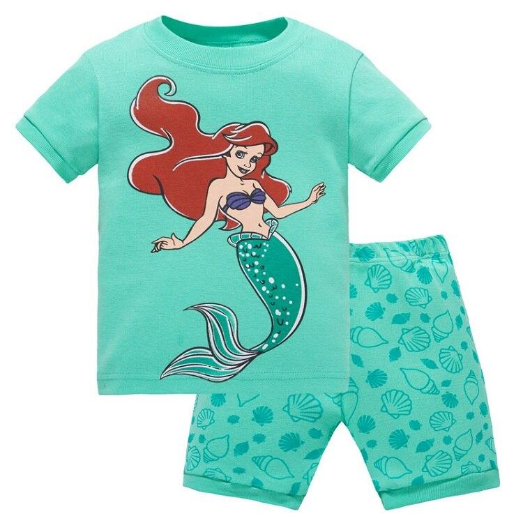 New arrived Childrens clothing girl child cartoon short-sleeve set summer lounge children Pajamas baby girls sleep