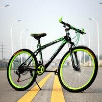 26インチ非折りたたみ自転車アルミフレームマウンテンバイク自転車21速度ディスクブレーキユニセックスmtbバイク3色カップル自転車