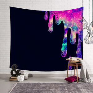 Image 2 - CAMMITEVER Feather Abstract People Face Colorful Tapestry Wall Hanging Tapestries Wall Tapestry Bohemian Collage Dorm Decoration