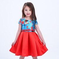 Gril Dress Summer Style Dream Tropical Ocean Dress Moana Dresses Infant Baby Girls Clothing Costume Children