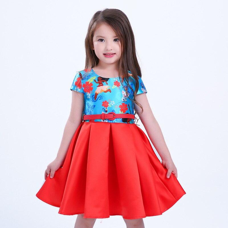 где купить  Girls Dress Summer Style Dream Tropical Ocean Dress Moana Dresses Infant Baby Girl Clothing Costume Children Party Princes Dress  по лучшей цене