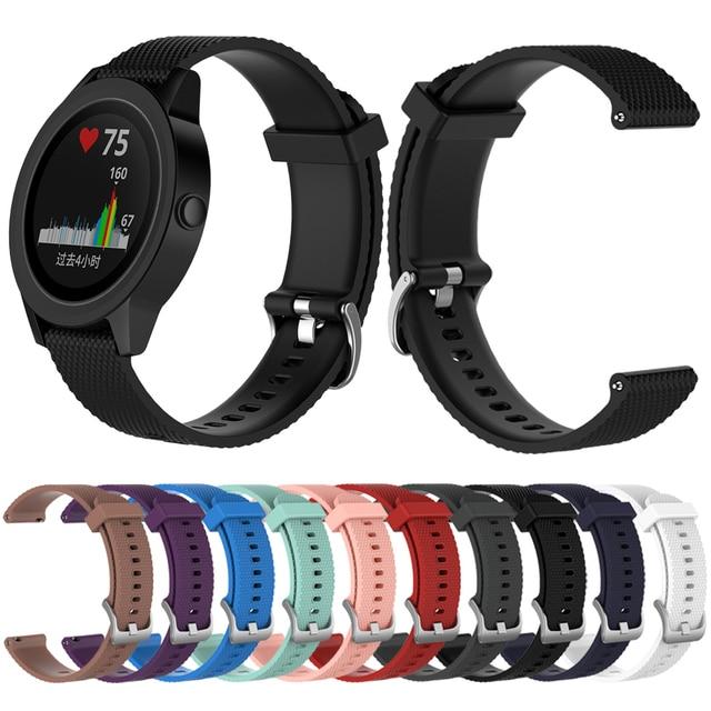 סיליקון רצועת עבור Garmin Vivoactive 3 מוסיקה Orerunner 645 חכם שעון צמיד להקת החלפת צמיד רצועת השעון אבזר