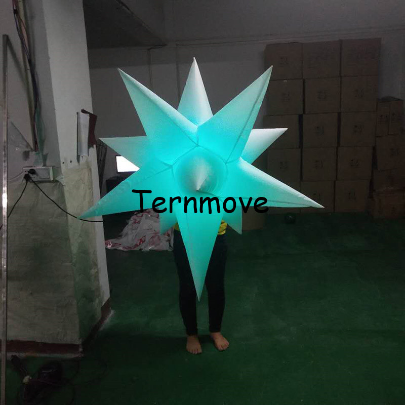 inflatable star 11spikes, with LED light and inner blower inflatable star model for sale event wedding bar party decoration цена