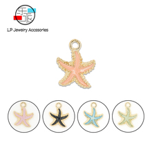 Colorful Starfish Enamel charms DIY jewelry Accessories fashion earrings necklace Bracelet making Components Material
