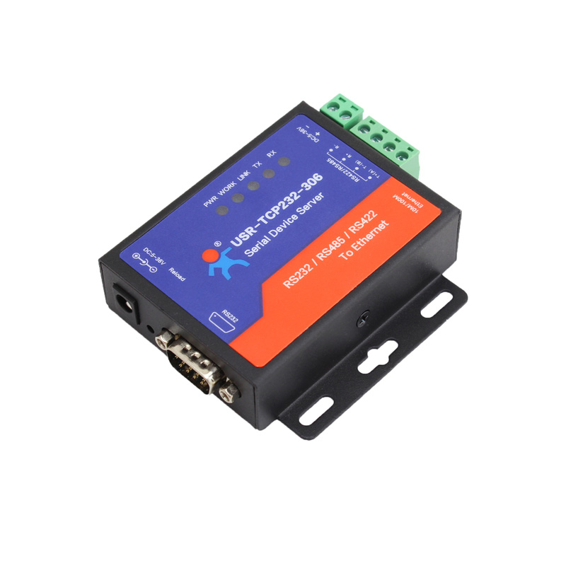 USR-TCP232-306 Ethernet Converters RS422/RS232/RS485 Serial to Ethernet Support DNS DHCP Buit-in Webpage Q19486 q061 usr tcp232 304 rs485 to ethernet server serial to tcp ip converter module with built in webpage dhcp dns httpd supported