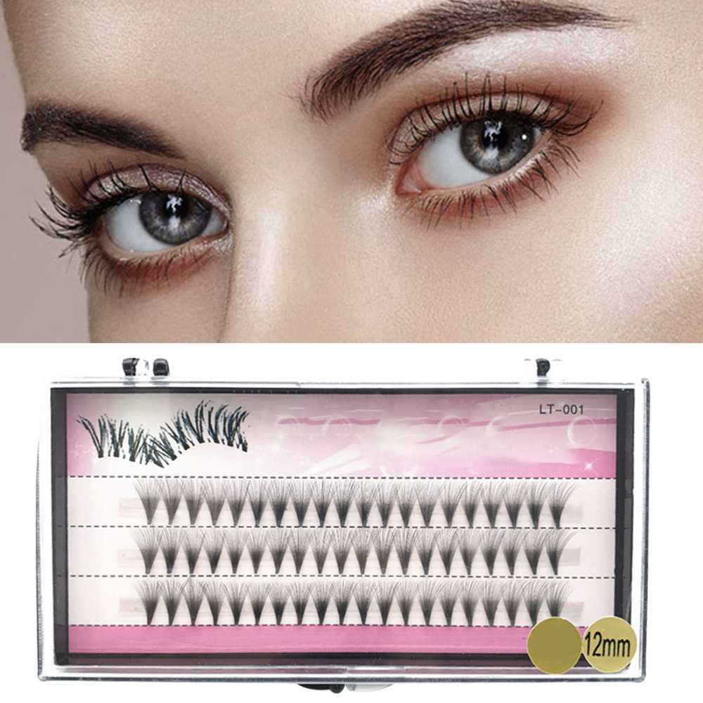 Fake Eye Lashes 8/10/12mm 60 Bundles Natural Long False ...