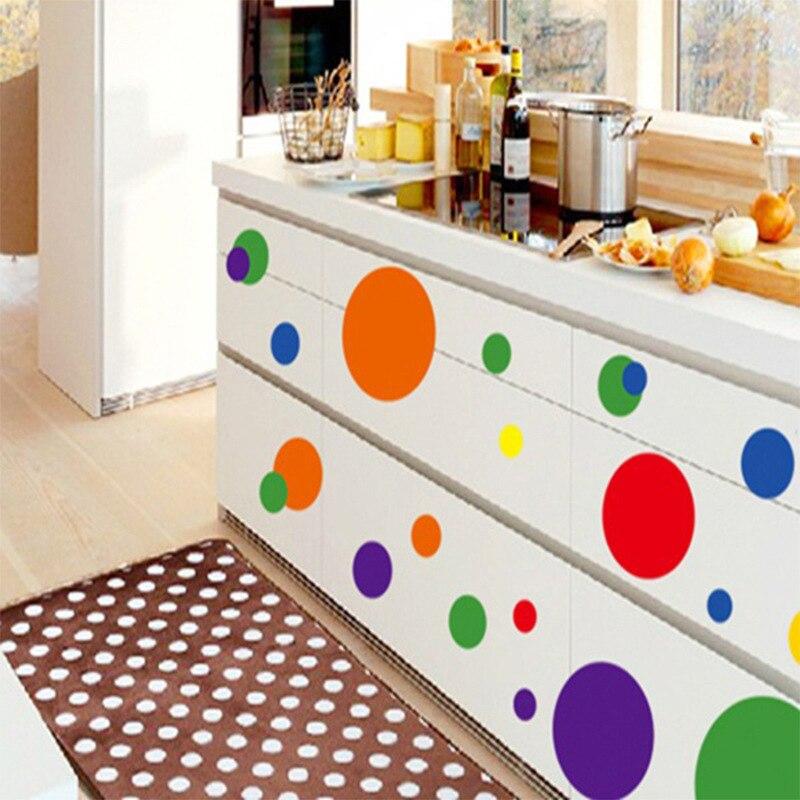 ヾ(^▽^)ノPuntos de color patrón desprendible Adhesivos niños ...