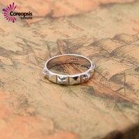 2017 Novos Das Mulheres Da Forma Do Vintage Anéis 925 Sterling Sliver Simples anéis finos Coreano do punk cruz surround anéis masculinos e femininos