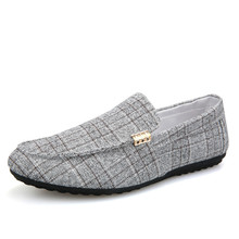 Men Casual Shoes Spring Summer Loafers New Slip On Light Canvas Youth Breathable Fashion Flat Footwear Yasilaiya