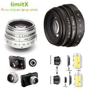 Image 1 - 35mm F1.6 CCTV Objectif Monture C Pour Sony A6500 A6400 A6300 A6000 A5100 A5000 NEX 6 NEX 7 NEX 5T NEX 5R NEX 3N APS C E mount NEX