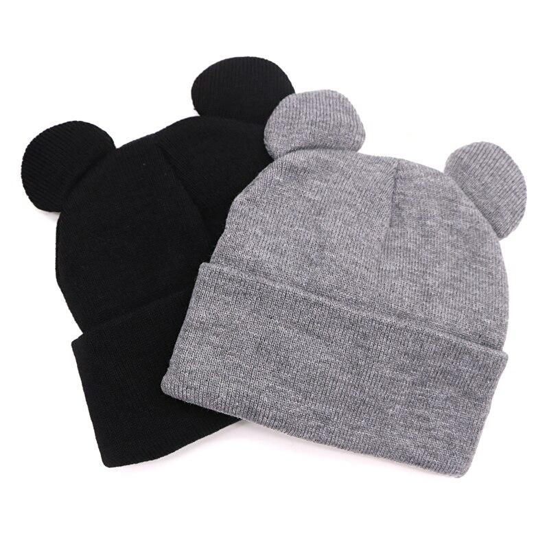 Hat Female Winter Caps Hats for Women Lady Devil Horns Ear Cute Crochet Braided Knit   Beanies   Hat Warm Cap Bonnet Femme Gorros