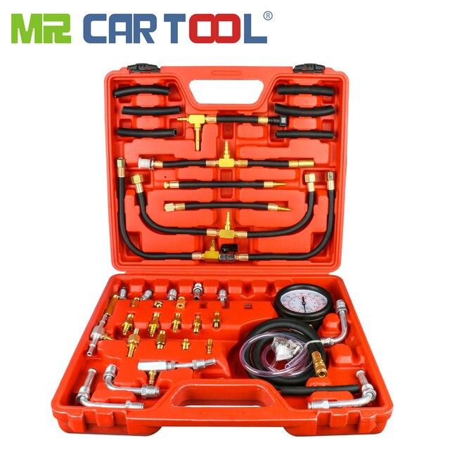 TU-443 Car Fuel Diesel Pressure Tester Gauge 42 Pcs Sensor Kit Universal Auto Manometer Engine Testing Fuel Injection Pump 0-140