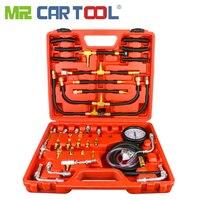 TU 443 Car Fuel Diesel Pressure Tester Gauge 42 Pcs Sensor Kit Universal Auto Manometer Engine Testing Fuel Injection Pump 0 140
