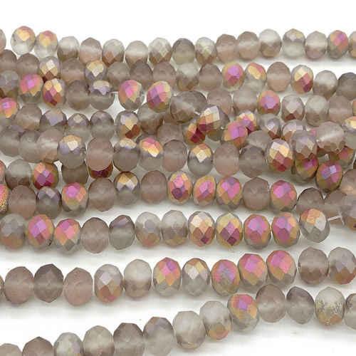 4*3 Mm 270 Buah Warna Perak Berlapis Manik-manik Kristal Rondelle Ragam Perhiasan Panjang Anting-Anting Pengatur Jarak Kalung Gelang Bahan perlengkapan