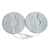 Здравоохранение 100 пар/упак. грудь электрода колодки груди пластырей груди физиотерапия Jack 2,0 мм использовать с массажем машина