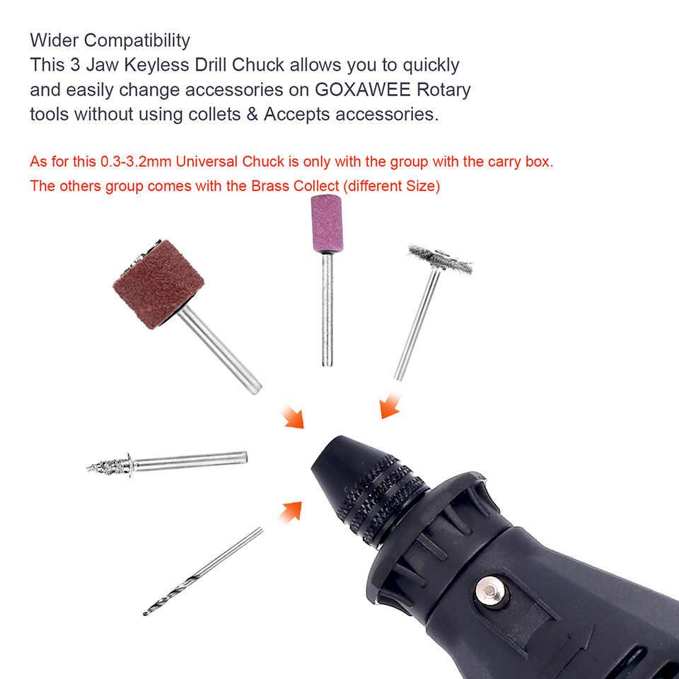Goxawee elétrica mini broca de mão ferramentas rotativas metal madeira gravador moedor máquina polimento para dremel 4000 ferramentas elétricas