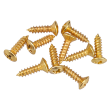 цена на 50PSC Gold Guitar Pickguard Mounting Screws for Fender Strat Tele ST Guitar bass Replacement Parts 2.5mm Electric