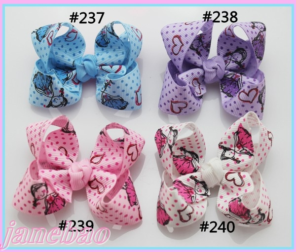 free shipping 1000ps mix color 3'' fashion Boutique hair bows toddle  hair accessories