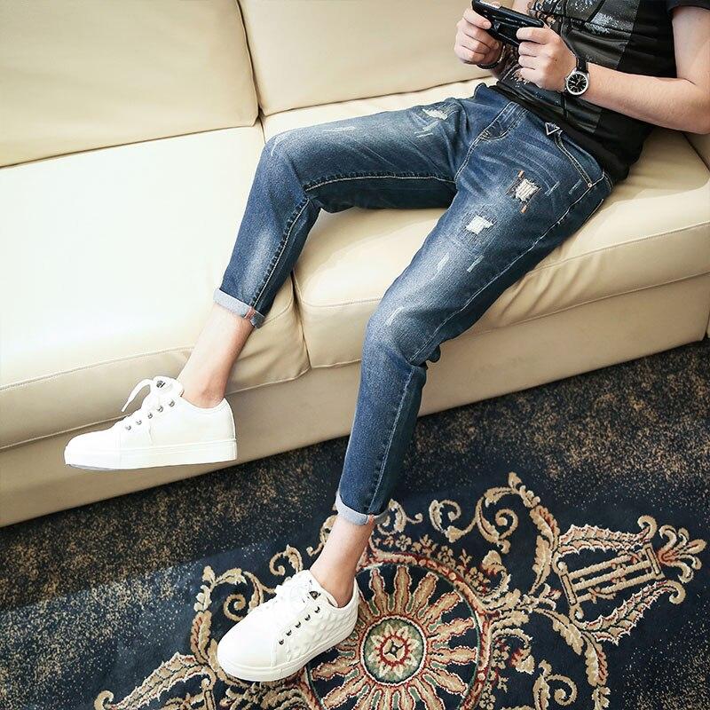 RX 2018 new arrival jeans men Fashion elasticity men's jeans high quality Comfortable Slim male pants ,blue and black