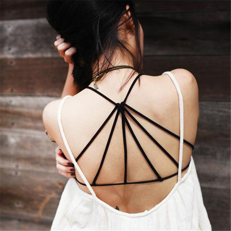 8db3e4d935 2018 Lady Back Cut Out Padded Bra Sexy Lingerie Strappy Cage Open Back Push  up Bra Bustier Bralette Caged Bralet Crop Top Bra-in Bras from Underwear ...