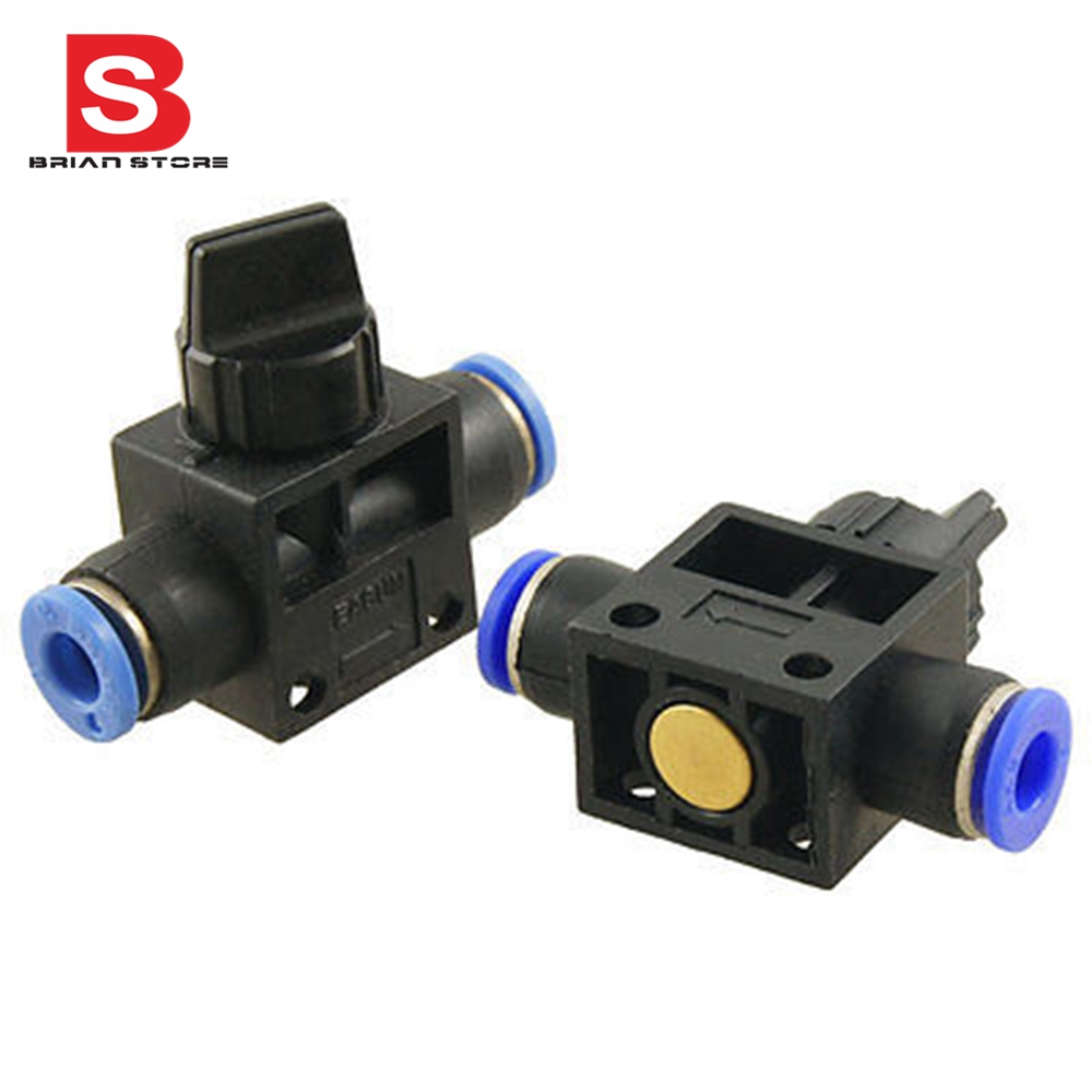4mm 6mm 8mm 10mm 12mm quick  Push in  Connect Pneumatic Fitting Hand Valve + FF zndiy bry y 12 12mm y shaped air pneumatic quick fitting push in connectors blue black 10 pcs