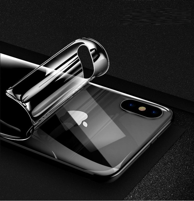 official photos bdb69 3a37c US $1.99 5% OFF|Front or Back Full Cover Soft Protective Hydrogel Film For  iphone X XR XS Max Screen Protector For iphone 6s 7 8plus (Not Glass)-in ...