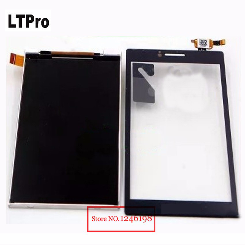 LTPro TOP Quality Replacement Touch Screen Digitizer+ LCD Display For LENOVO A588T Mobile Sensor Panel Phone Parts Black