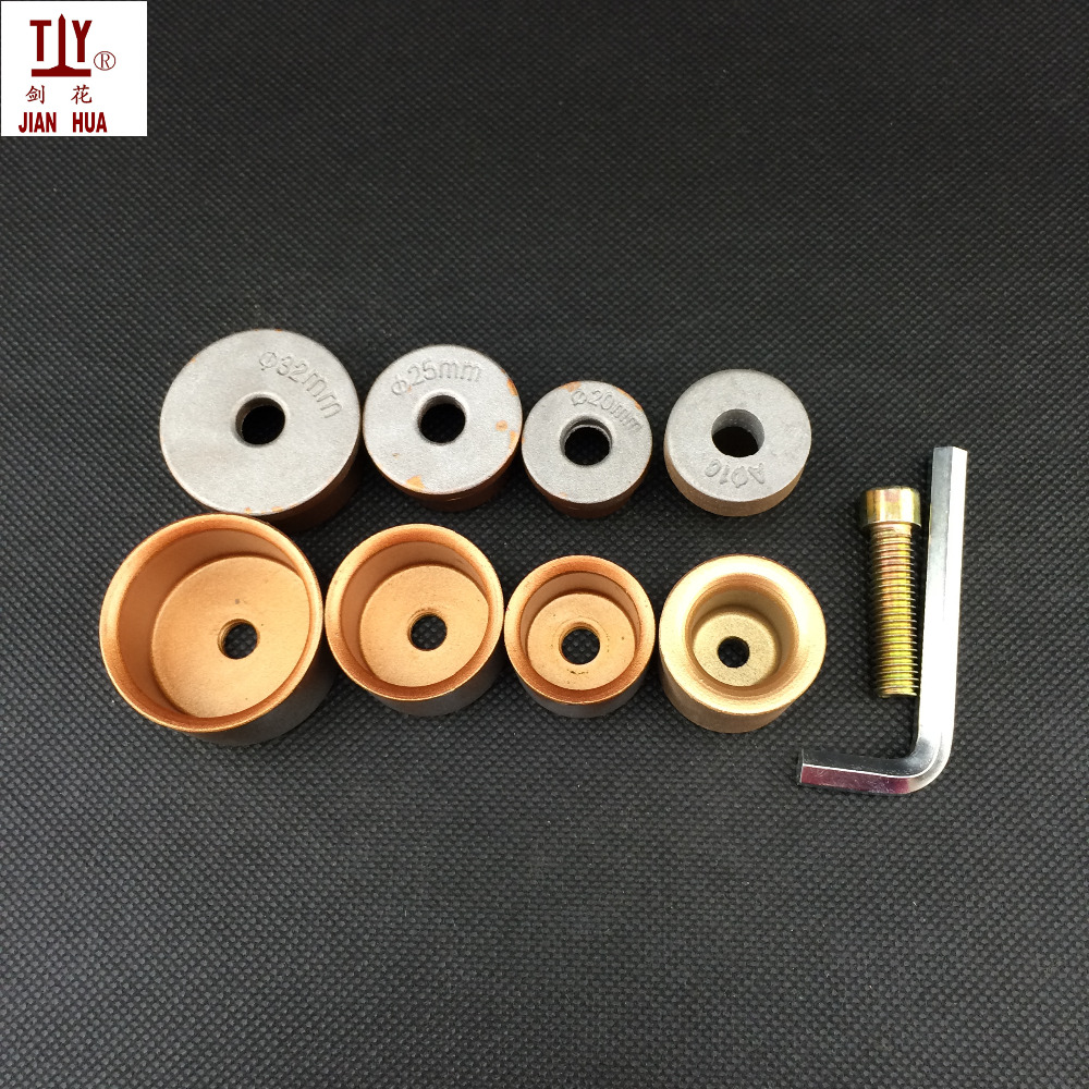 Free Shippng 4PCS Common Dn 16-32mm Pipe Fusion Socket Dies Welding Adaptor Welding Parts PPR Pipe Butt Welding Die Head Welding