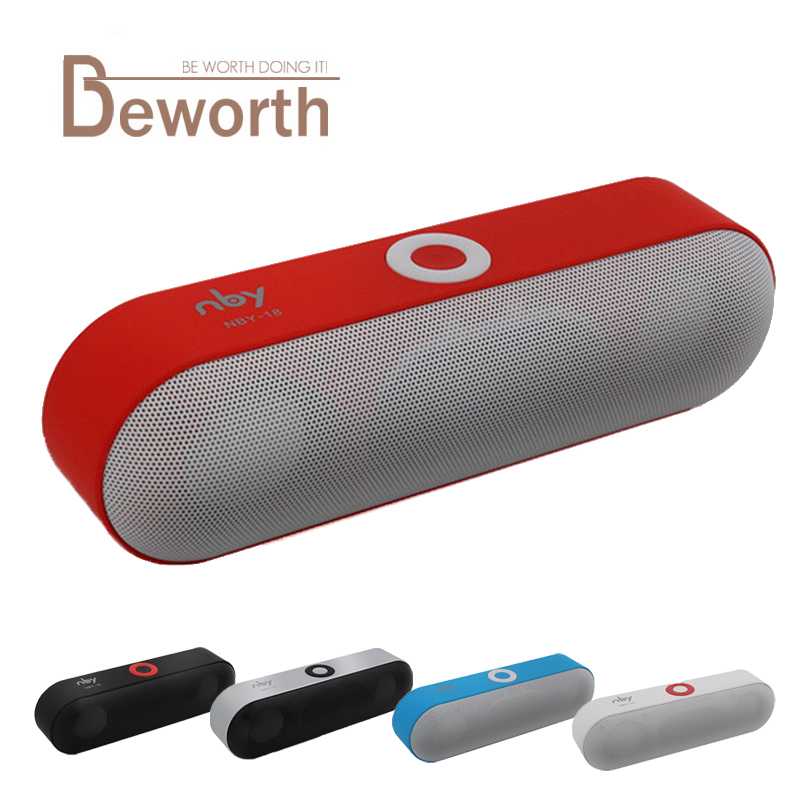 NBY 18 Mini Bluetooth Speaker Portable Wireless Speakers Sound System 3D HD Stereo Surround Boombox Music