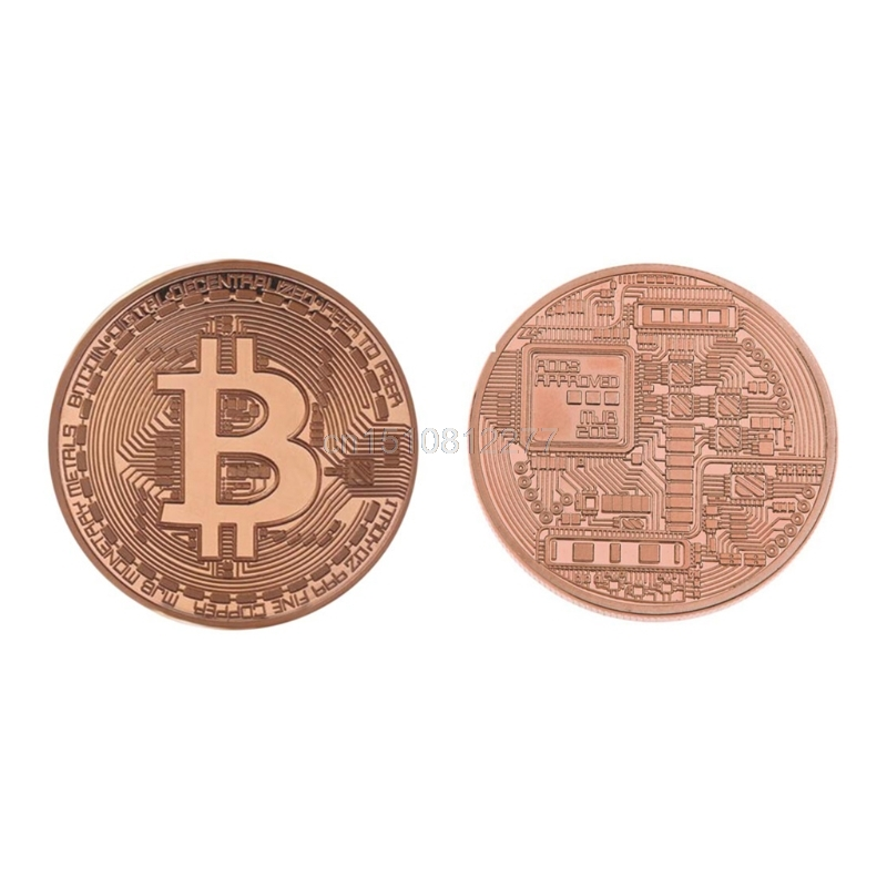 New Plated Rose Gold Bitcoin Coin Collectible Coin Art Collection Gift Physical J05 Dropshipping