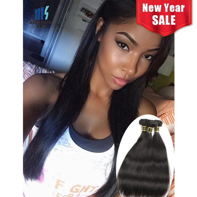 Peruvian Virgin Hair Straight 3 Bundles Peruvian Straight Hair 8a
