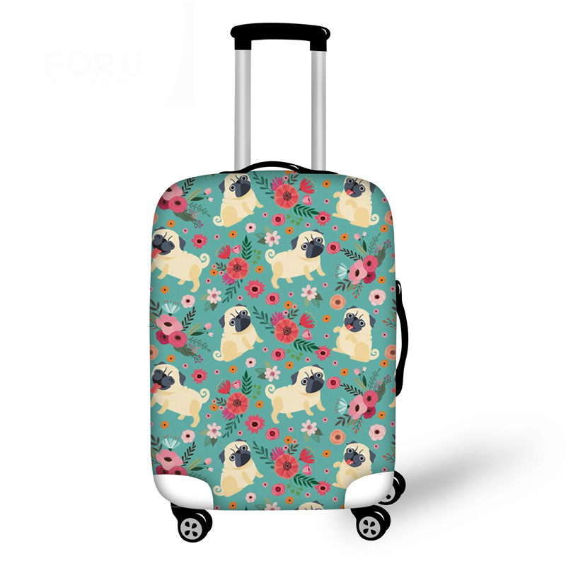New Pugs Travel Luggage Protective Cover For 18-30 Inch Cute Dogs Printing Elastic Thick Suitcase Covers With Zipper