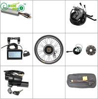 EU DUTY FREE E Bike Conversion Kit 36V 48V 1500W Rear Motor Wheel 20 24 26 29e 700c 28 Controller LCD Brake Electric Bicycle