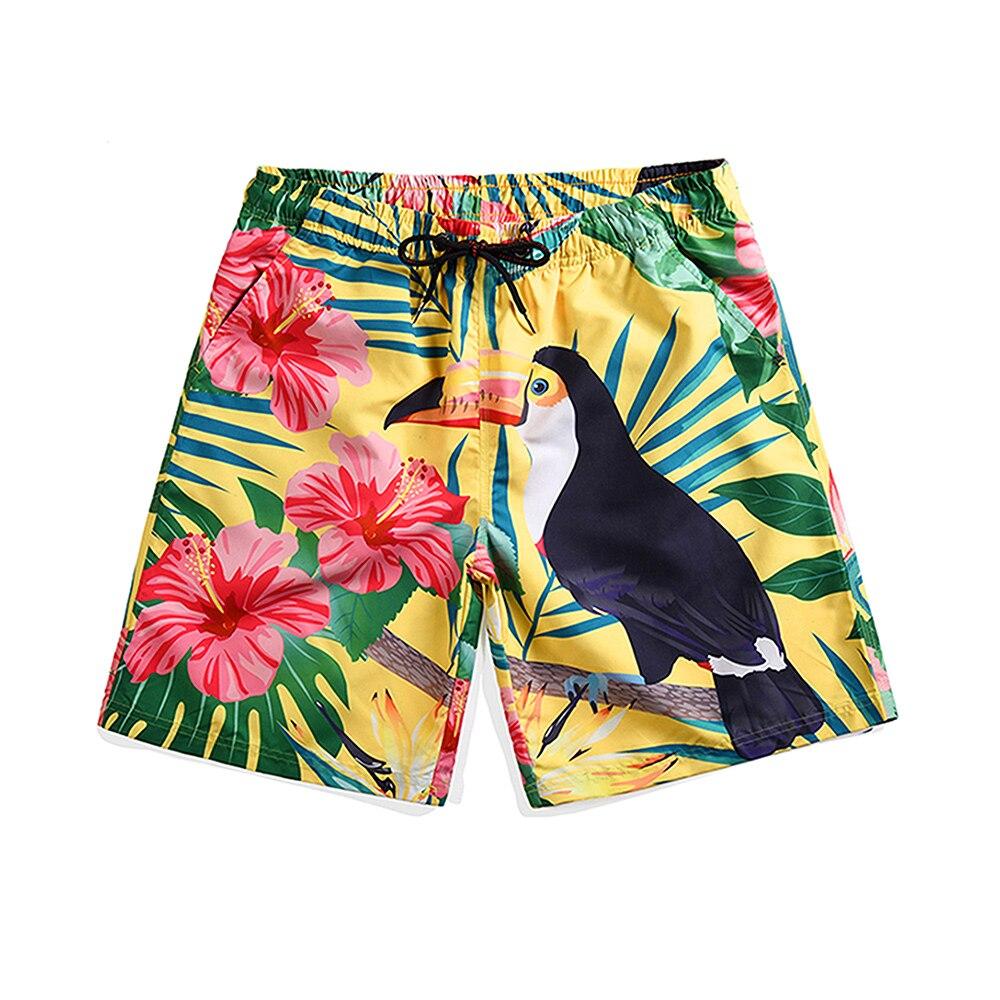 Quick Dry 3D Bird Board shorts for Men (4)