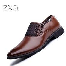 Лидер продаж Для мужчин Классические Бизнес Оксфорд Обувь Роскошные острый носок официальная обувь в деловом стиле чёрный; коричневый Мужская Свадебная обувь размер 38-47