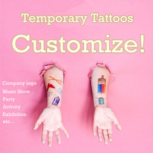 Personalized OEM Temporary Tattoo Customize Tattoo Adorable Custom Make Tattoo For Cosplay Or Company Logo Party Football Game