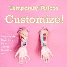 Personalizado oem tatuagem falsa temporária personalizar tatuagem adorável costume fazer tatuagem para cosplay logotipo da empresa festa jogo de futebol